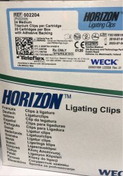 Horizon Blue Ligating Clips