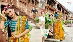 Ethnic Fancy Yellow Designer Sarees