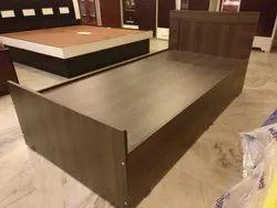 Pine Wood Single Bed, Size: 100 x 196 cm