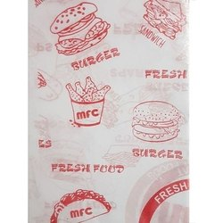 Printed wrapping butter paper