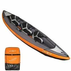 Decathlon Cruising Kayak 2/3 Places Orange Inflatable