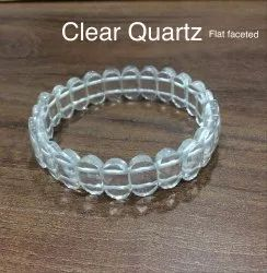 Clear Quartz Flat Faceted