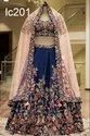 Embroidered Net Lehenga