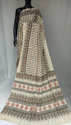 Exclusive Natural Hand Block Printed Cotton Saree