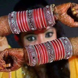 Stylish Chura With Name Bangles