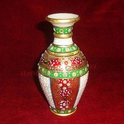 Marble Gold Painting Flower Vase