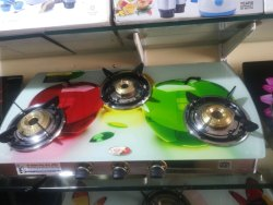 Surya Gas Stove Manual 3 Glass Cook Top, For Home