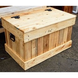 Termite Resistant Rectangle Industrial Wooden Packaging Box, 5-15 mm, Box Capacity: 201-400 Kg