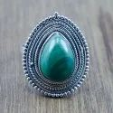 Handmade 925 Sterling Silver Jewelry Ring Natural Malachite Gemstone