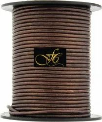 Brown Metallic Round Leather Cord