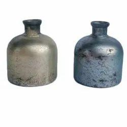Puja Vase Silver Foil Decorative Items, Size: 4 Inch