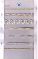 Lace Trim Natural Viscose Laces for Casual Wear, Packaging Type: Board