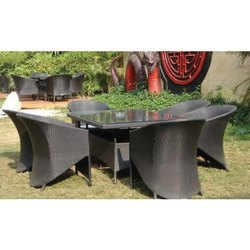 Outdoor 1 Table and 6 Chair Set