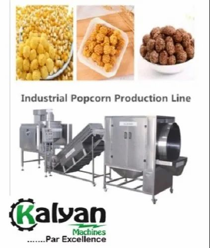 Industrial Hot Air Popcorn Process Line
