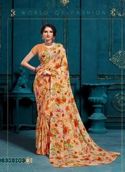 Fancy Floral Print Saree