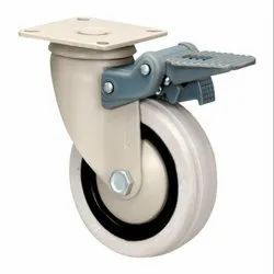 DXJ Series Fitted with Grey Rubber Wheel Swivel Castors with Fibre Brake