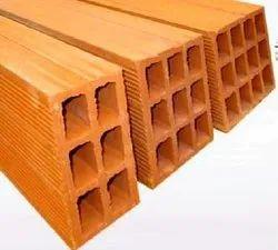 Rectangular Clay Hollow Block, Size: 400 x 200 x 200 mm