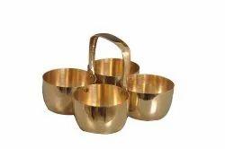 Modern Brass Chopda / Chopala for Home, Shape: Round