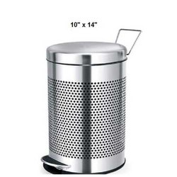 10 X 14 Inch Stainless Steel Pedal Bin