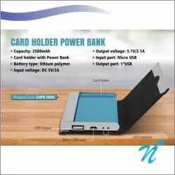 2500 mAh Card Holder Power Bank