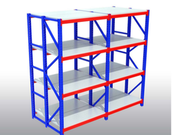 M.s Blue Powder Coated Heavy Duty Storage Rack, For Industrial