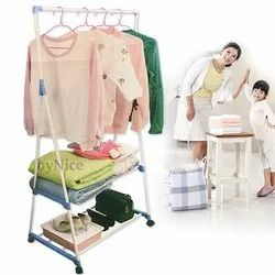 Foldable Verticle Telescopic Pole Triangle Clothes Drying Stand