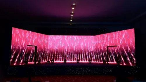P3 Pre Wedding Back Ground Light Emitting Diode Screen, Display Size: 576x576 Mm
