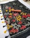 Pochampally Black Cotton Saree