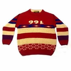 Round Neck Boys Woolen Sweater