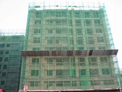 Green Nylon Construction Safety Net, Packaging Type: Roll