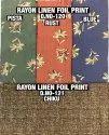Rayon Linen Foil Print Fabric