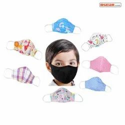 3 Layer Printed Face Mask For Kids WHO, CE Certified