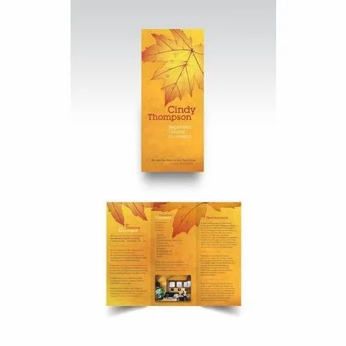 Paper Glossy Printed Leaflet, For Promotional & Advertising, Rectangular