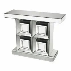 Contemporary Window Square Designed Mirror Console Table