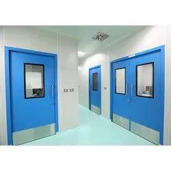 Blue Hinged Scientific Doors