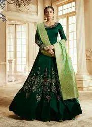 New Designer Abaya Style Wedding Anarkali Suit
