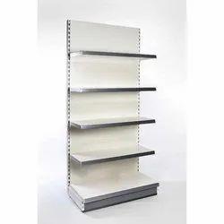 Mild Steel 5 Shelves Single Sided Gondola Rack for Supermarket