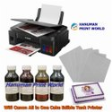 WIFI Canon All in One Cake Edible Tank Printer Complete Set 4 Edible Ink Bottles  & 25 Icing Sheets