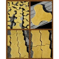Yellow Paver Blocks