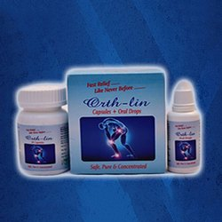 Orth - Lin Herbal Joint Pain Relief Capsule and Oral Drop, Packaging Size: 60 Capsule and 20 ml Oral Drops
