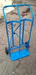 Industrial & Medical Oxygen Cylinder Trolley, Single & Double Cylinder Trolley, Oxygen /LPG/Co2 Etc