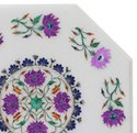 Marble Indian Coffee Table Top Pietra Dura Art Work
