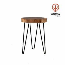 Woavin Modern Metal Simple Bedroom Small Sofa Side Corner End Table for Indoor