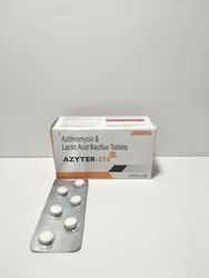 Azithromycin 250 Mg And Lactic Acid Bacillus 60 Million Spores Tablet