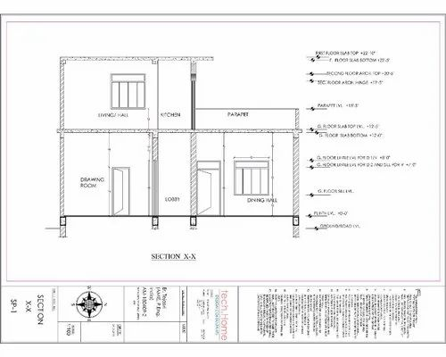 Buildinghouse Structure Drawings In Haridwar Tech Home