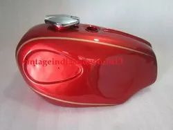 New Bsa A65 Spitfire, Firebird Cherry Painted Petrol Tank 1960''s (Reproduction)  With Fuel Cap