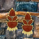 Traditional Indo Western Earring with Ruby Stone