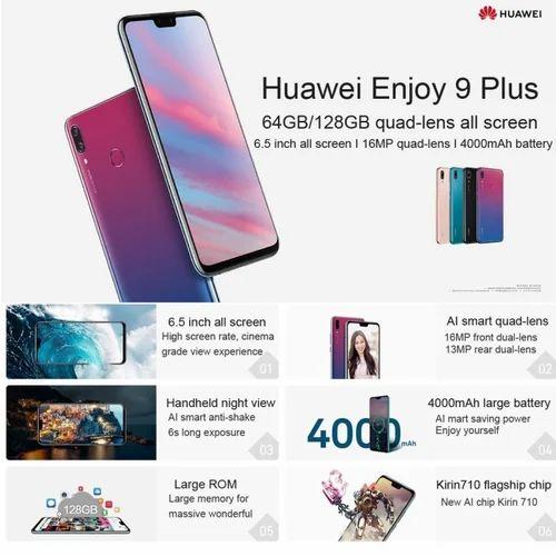 Huawei Enjoy 9 Plus, Y9 2019, 6GB, 128GB, 400GB, 4 Cameras, Fingerprint,  6 5 Inch Android Smartphone