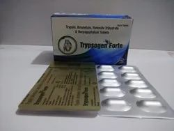 Trypsin 96 mg  Bromelian 180 mg and Rutoside 200 mg Tablet