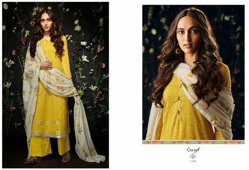 6a38f14683 Ganga Cotton Printed Suit GE-7246, Rs 1140 /piece, Ganga Fashions ...